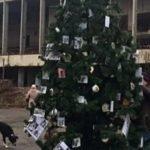 В Припяти впервые после аварии нарядили новогоднюю елку
