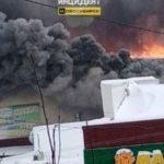 В Сибири сгорел крупный торговый центр