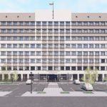 В центре Барнаула реконструируют советское офисное здание