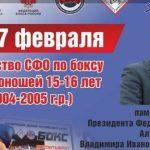 Первенство СФО по боксу среди юношей посвятят Владимиру Мудрику