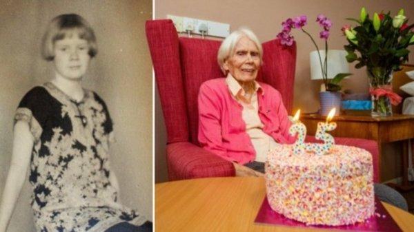 100-летняя британка празднует свой 25-й день рождения