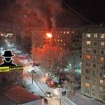 Сильный пожар на улице Гущина случился в Барнауле
