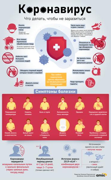 Как себя вести, чтобы не заразиться коронавирусом. Инфографика