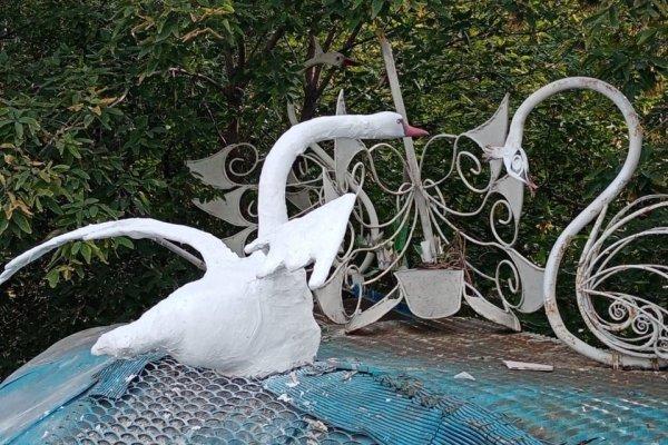 «Снова с крылышками». В Барнауле воскресили лебедя Андрюшу