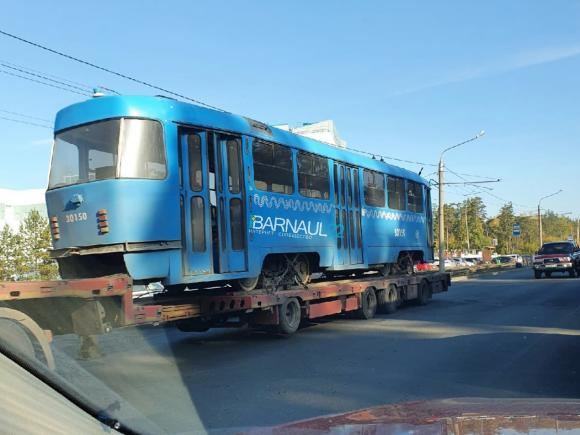 В Барнауле заметили собянинские трамваи