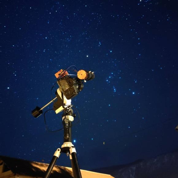Фотограф снял космос над Алтаем